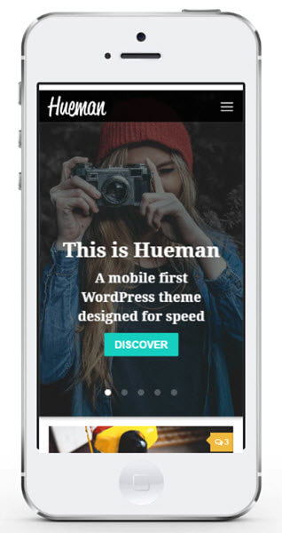 Hueman Pro theme feature infinite_scrolling