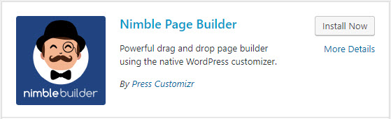 Install the Nimble Builder plugin